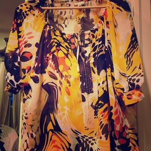 cleo Tops - Beautiful tropical shirt